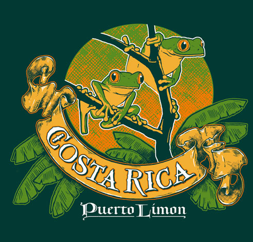 Costa Rica T Shirt Design