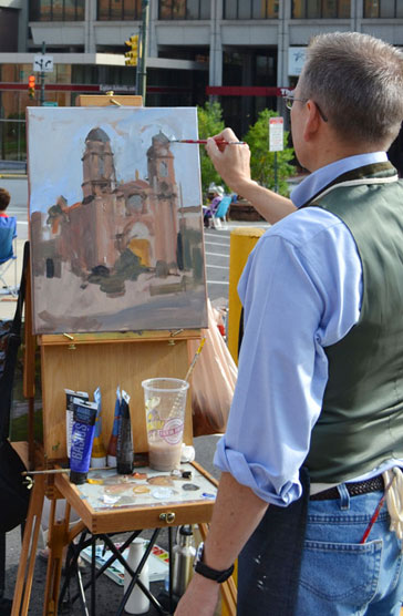 Painting Demo at the Basilica of St. Lawrence