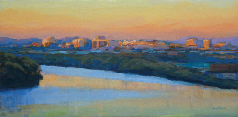 Tennessee River Sunset Painting Chattanooga TN