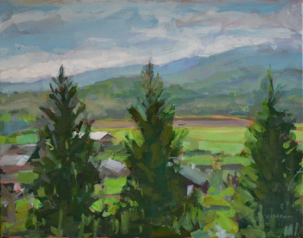 """Warren Wilson Farm"" - acrylic on canvas, 11 x 14 in."
