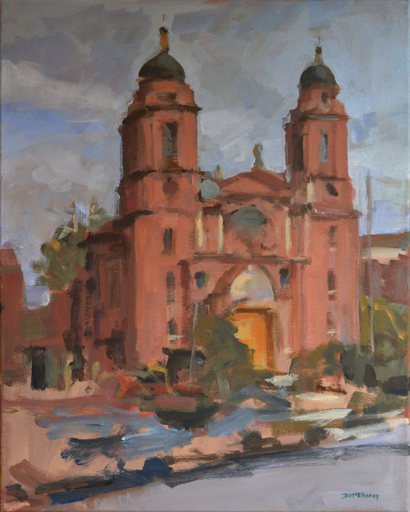 """Basilica St. Lawrence"" - acrylic on canvas, 20 x 16 in."