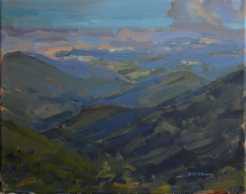 """Craggy Overlook"" - acrylic on canvas, 11 x 14 in."
