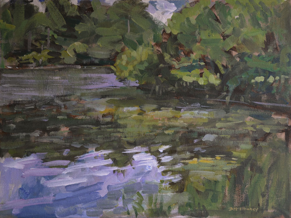 """Highland Lake"" - acrylic on canvas, 12 x 16 in."