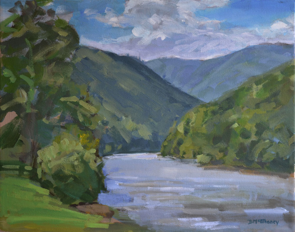"""Nolichucky River Gorge"" - acrylic on canvas, 11 x 14 in."
