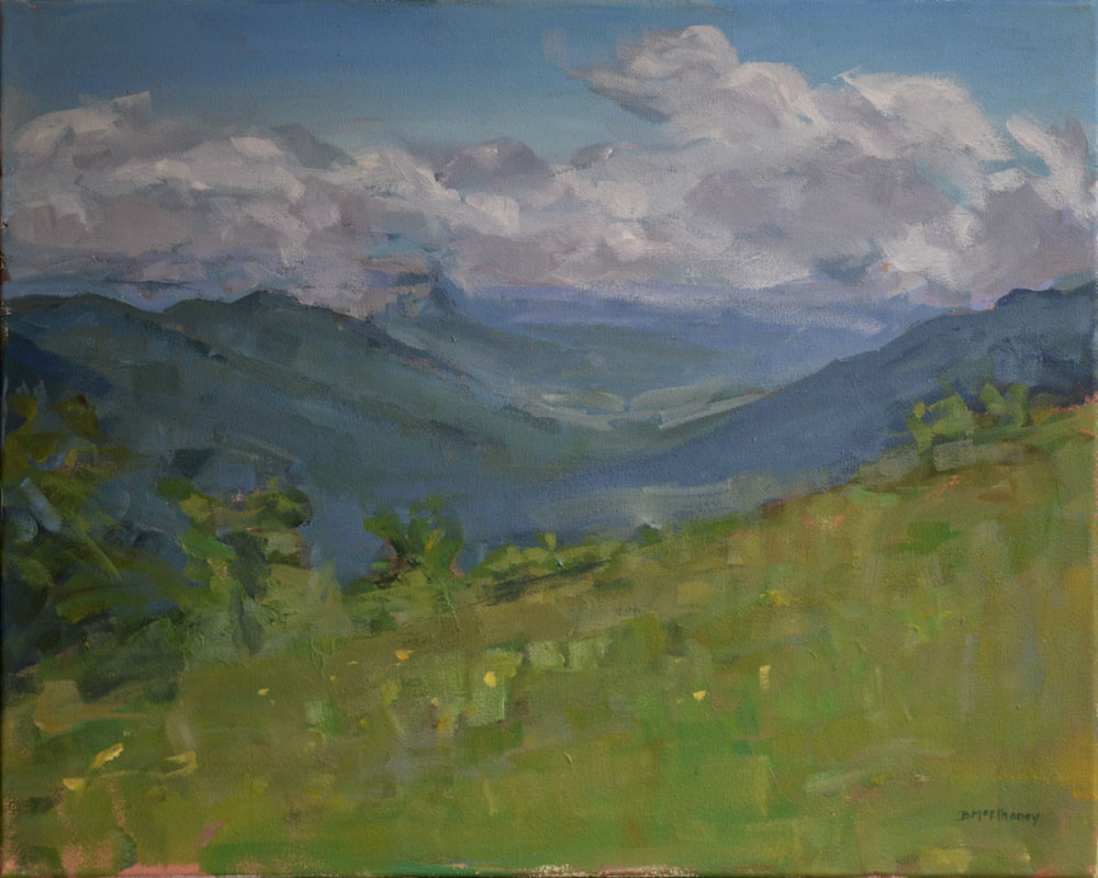 """""""Parkway Overlook"""" - acrylic on canvas, 16 x 20 in."""