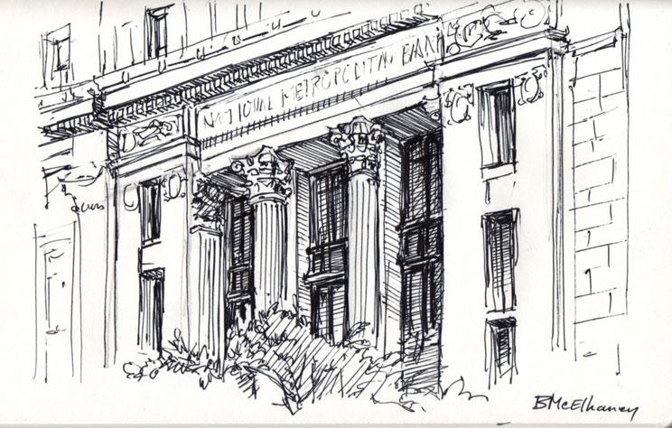Washington DC Sketches Bank