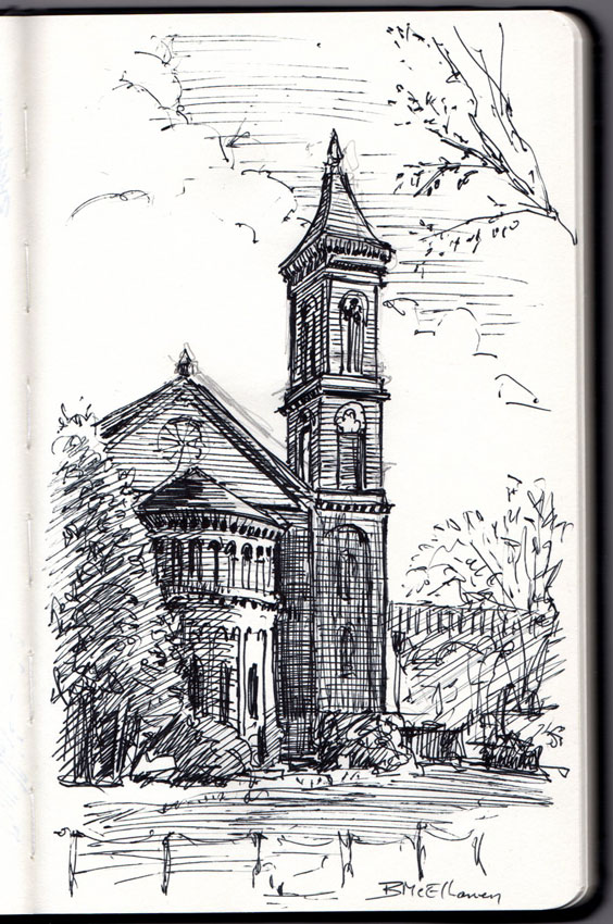 Washington DC Sketches Cathedral