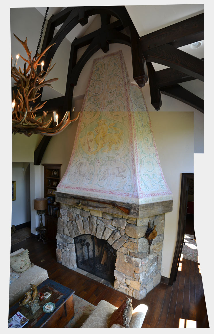 Aslan Fireplace Mural Tall