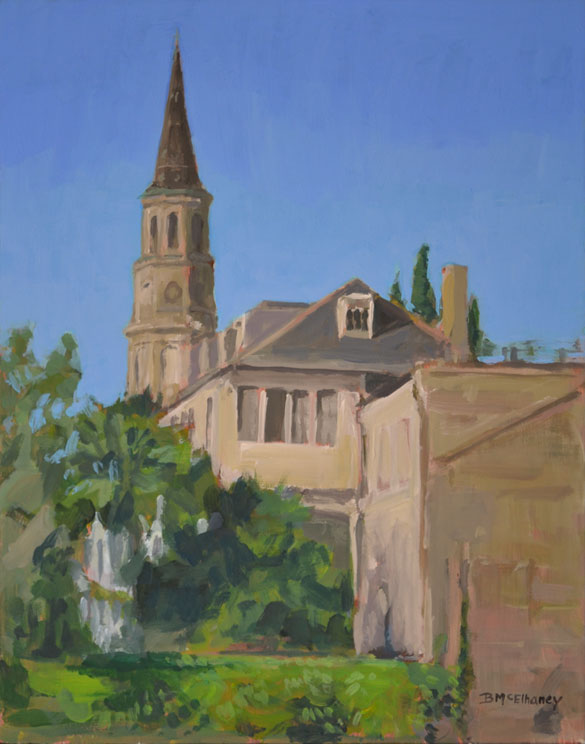 Painting of Church in Charleston SC
