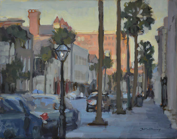 Broad St Charleston Painting