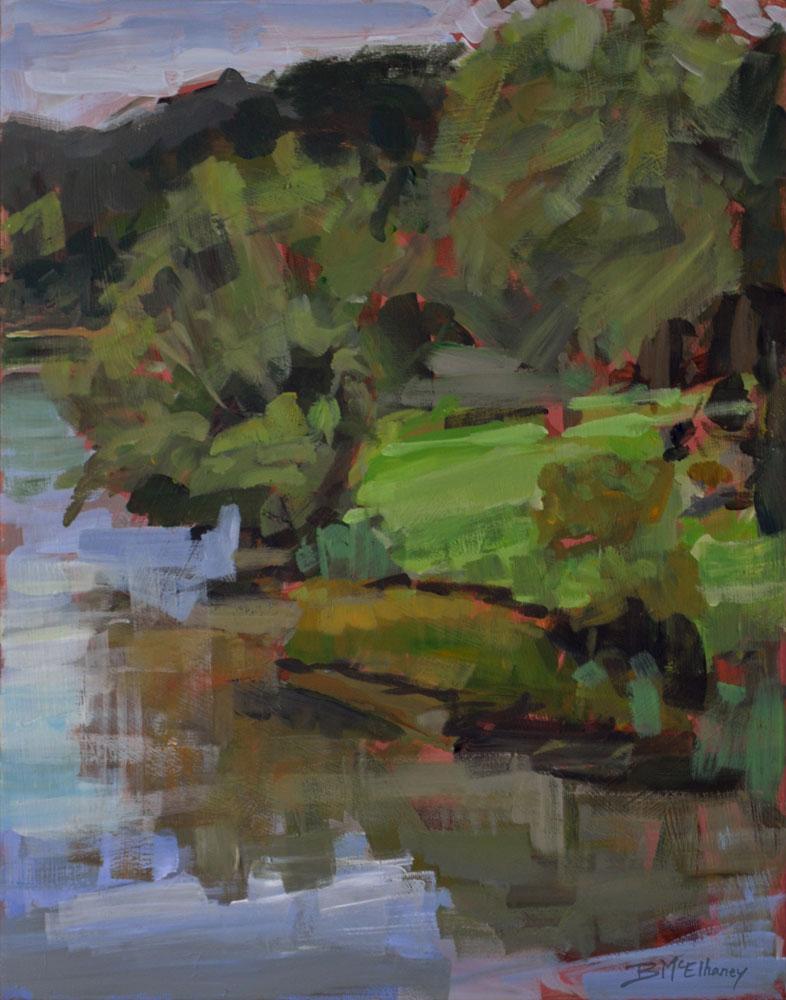 Blue Ridge Mountains Lake Painting