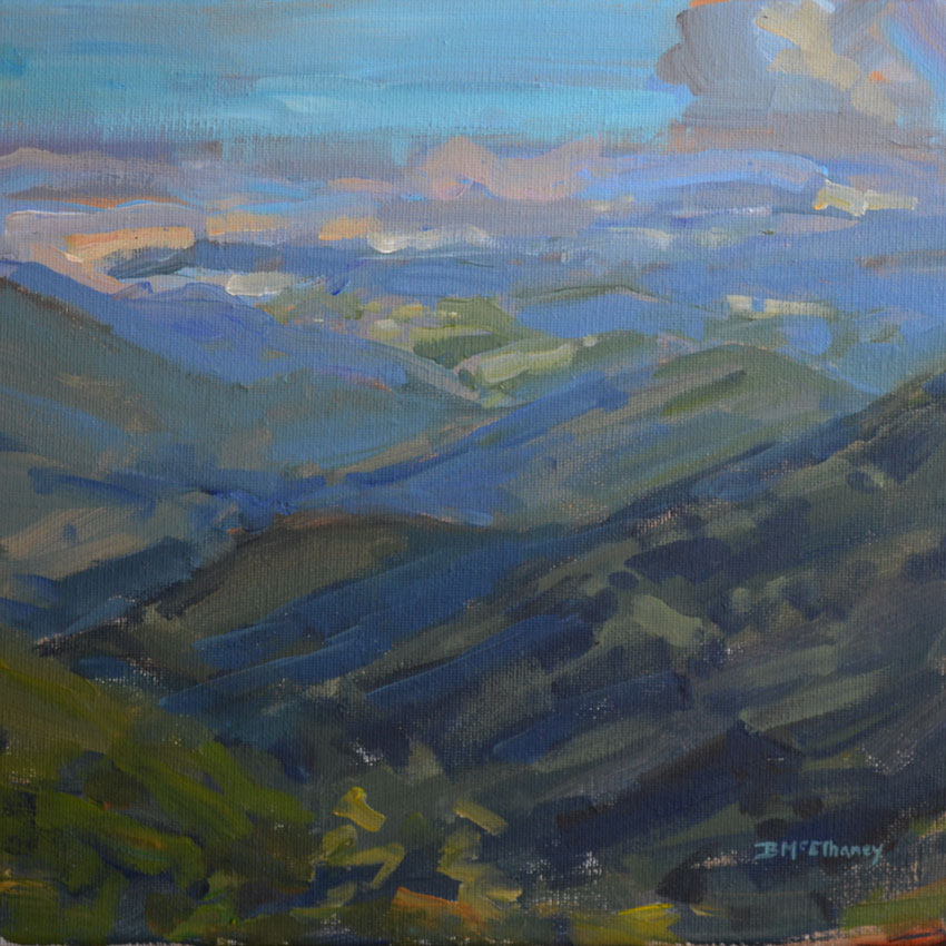 plein air painting blue ridge mountains
