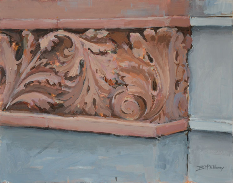 Charleston SC Building Detail Painting