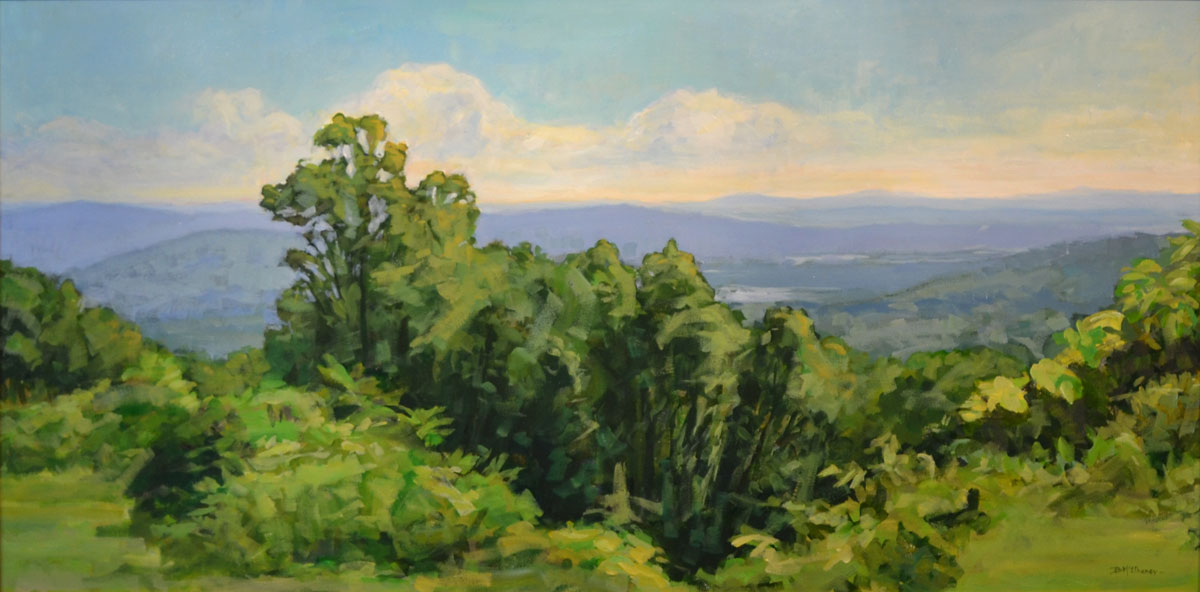 Blue Ridge Parkway Mountain View Painting