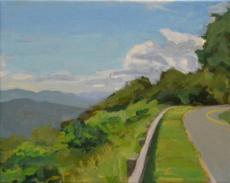 Painting of Blue Ridge Parkway Overlook