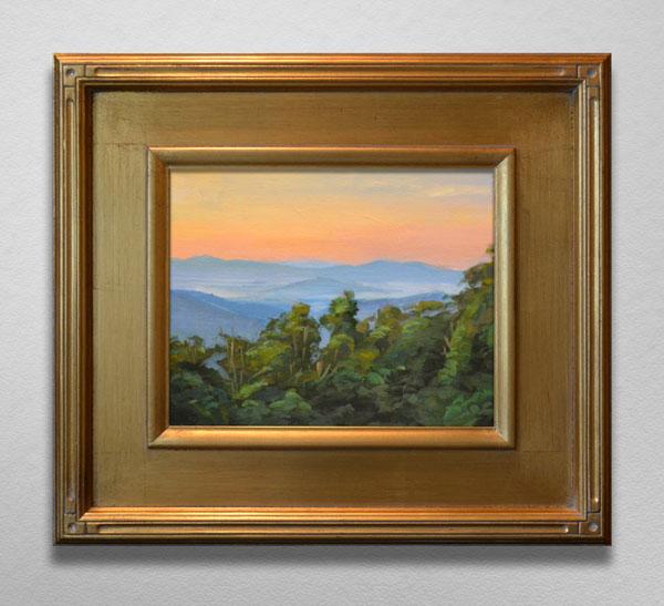 Painting of Sunrise on Blue Ridge Parkway Overlook