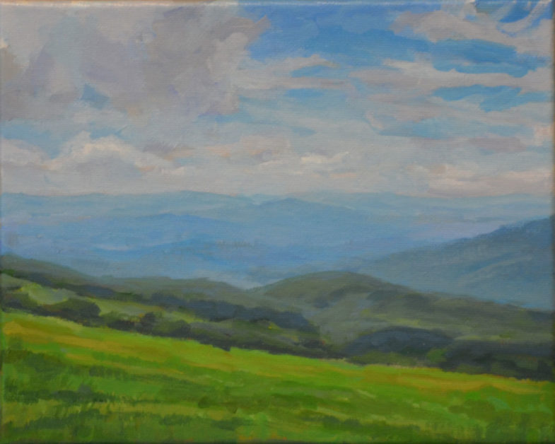 Painting - View from the Appalachian Trail Near Carvers Gap