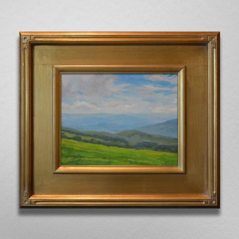 Framed Painting Appalachian Trail Near Carvers Gap