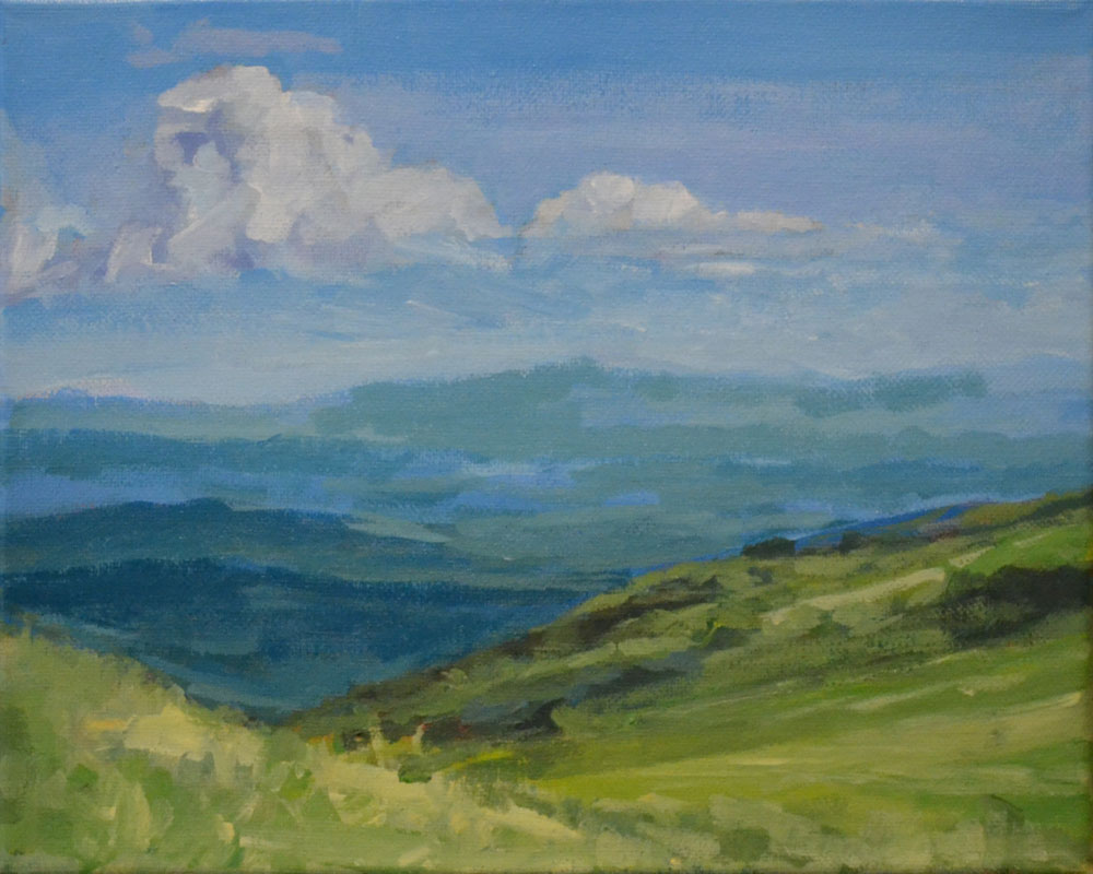 Painting of view from the Appalachian Trail near Carvers Gap