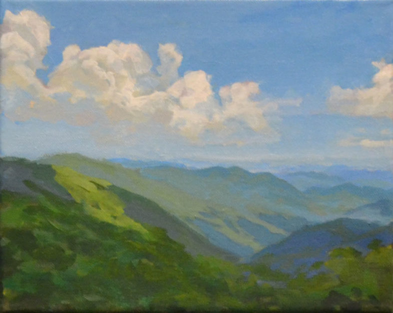 Painting of View from Craggy Blue Ridge Parkway