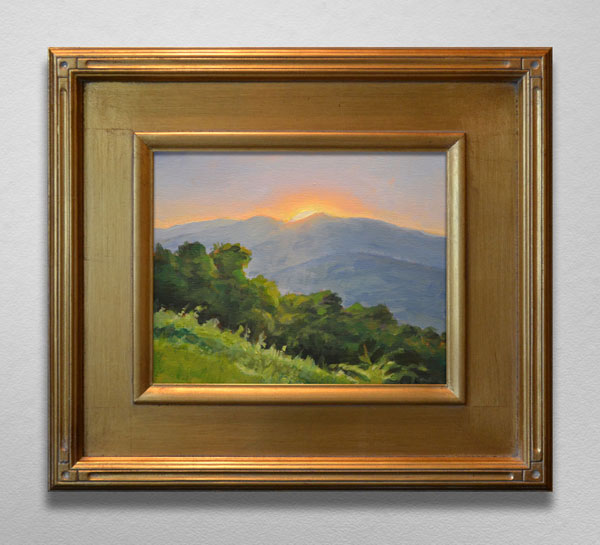 Painting of Sunrise on Blue Ridge Parkway