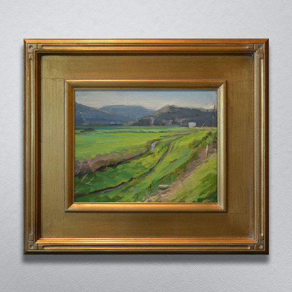 Valle Crucis NC Painting with Gold Frame
