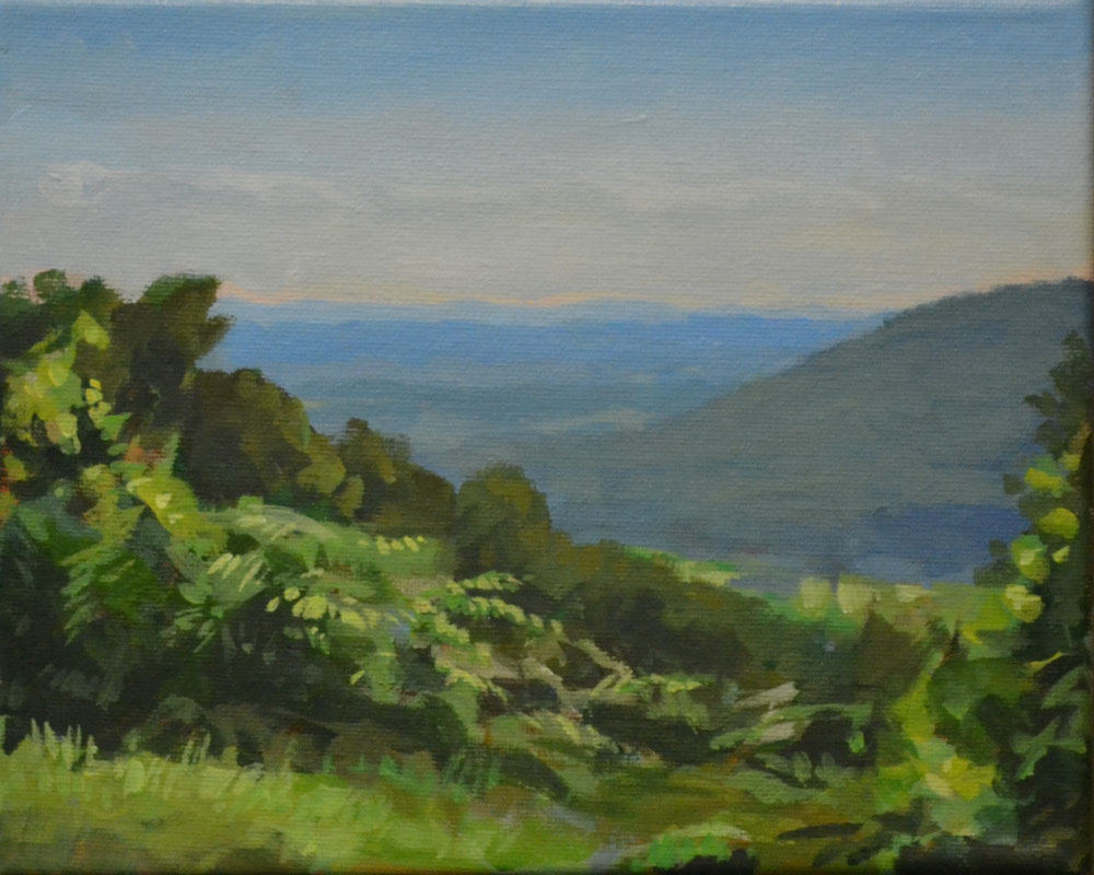 Painting from Blue Ridge Parkway Overlook